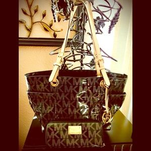 Michael Kors Jet set tote bag  and wallet